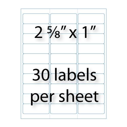 "Address Labels - 2-5/8"" X 1"" | 30-up"