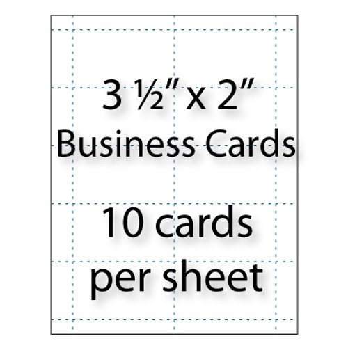 """Business Cards - 3-1/2"""" x 2"""" 