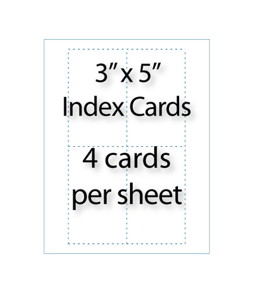 "Index Cards - 3"" x 5"" 
