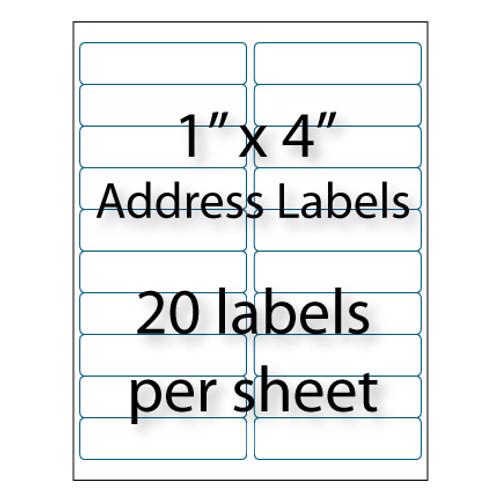 "Address Labels 4"" x 1"" | 20-up"