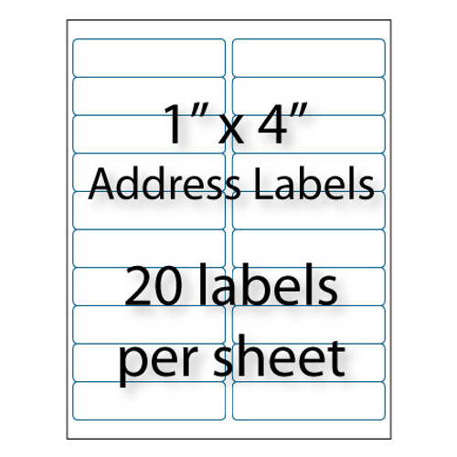 "Address Labels 4"" x 1"" 