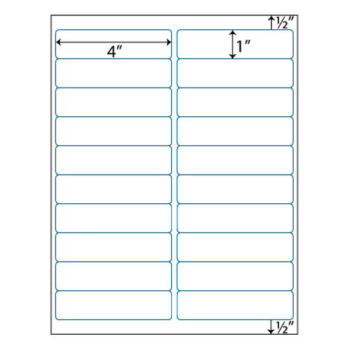 """Download Avery 5160 Compatible Labels Avery 5260 5970 5971: Address Labels - 4"""" X 1 """""""