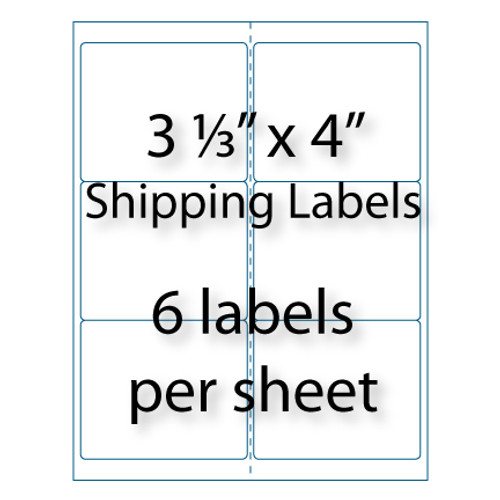 Shipping Labels 3-1/3 x 4"