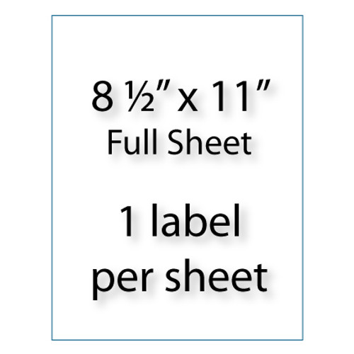 "Full Sheet Labels 8-1/2"" x 11"" 