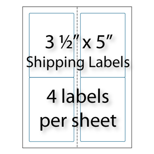 """Shipping Labels 3-1/2"""" x 5"""" 