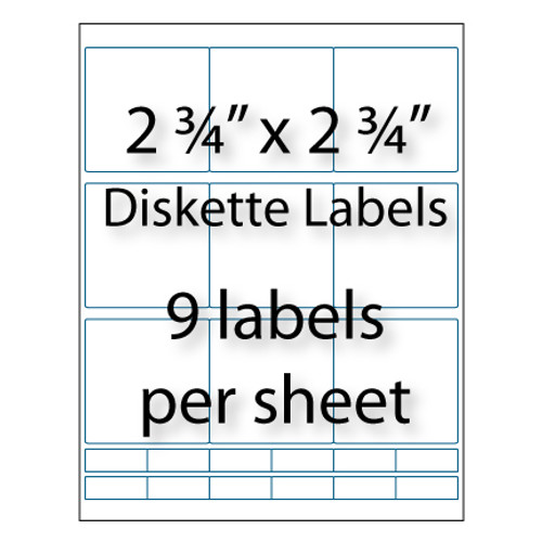 "Diskette Labels 2-3/4"" x 2-3/4"""