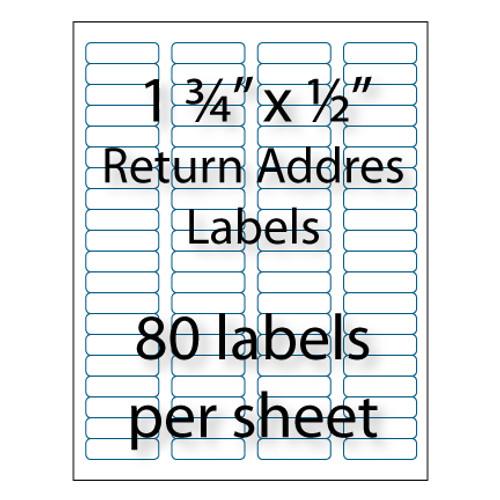 "Return Address Labels 1-3/4 x 1/2"" | 80-up"