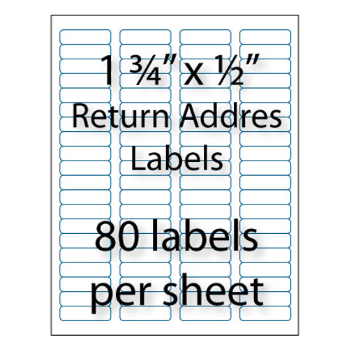 Return Address Labels 1-3/4 x 1/2"