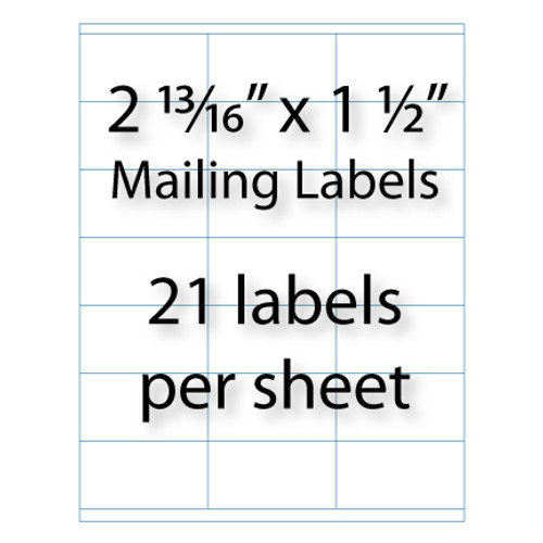 """Mailing Labels 2-13/16"""" x 1-1/2"""" 