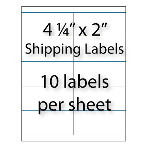 "Shipping Labels 4-1/4"" x 2"" 