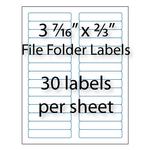 """File Folder Labels 3-7/16"""" x 2/3"""" 