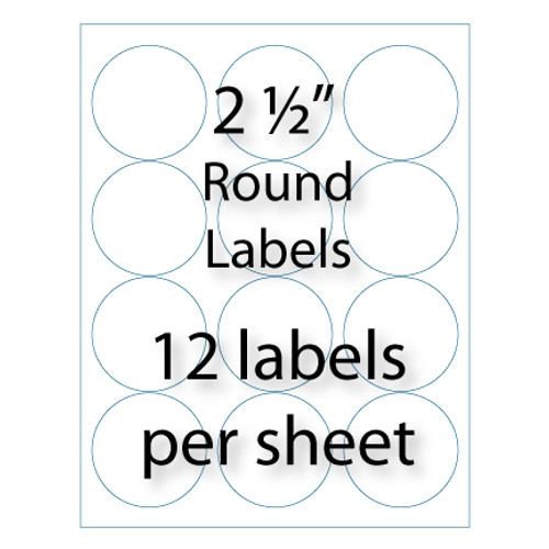 "2-1/2"" Round Labels 