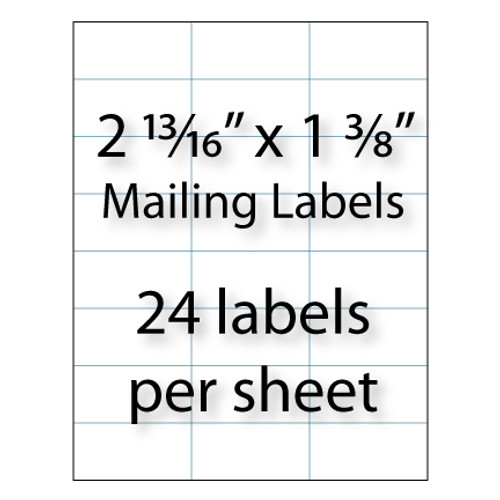 """Mailing Labels 2-13/16"""" x 1-3/8"""" 