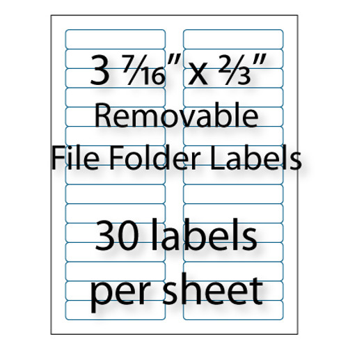 "3-7/16"" x 2/3"" Removable File Folder Labels 