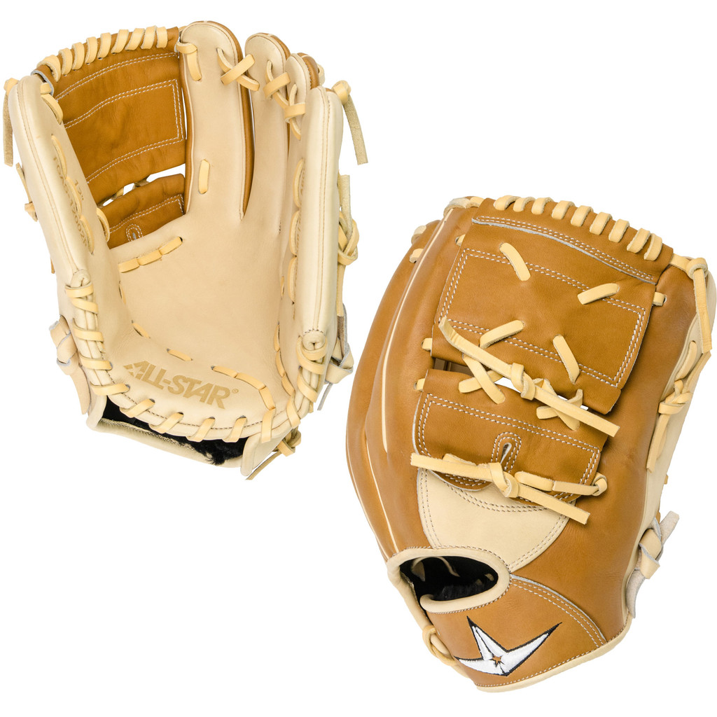 All-Star Pro-Elite 12 Inch FGAS-12002P Baseball Glove - Saddle/Cream
