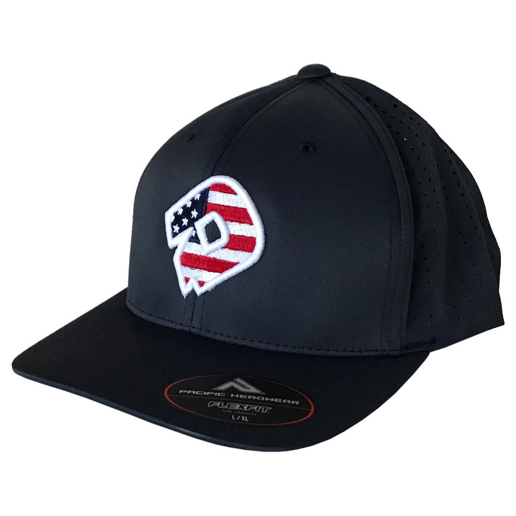 09406dc63ed665 DeMarini D Logo USA Baseball/Softball FlexFit Hat - BPAthletics.com