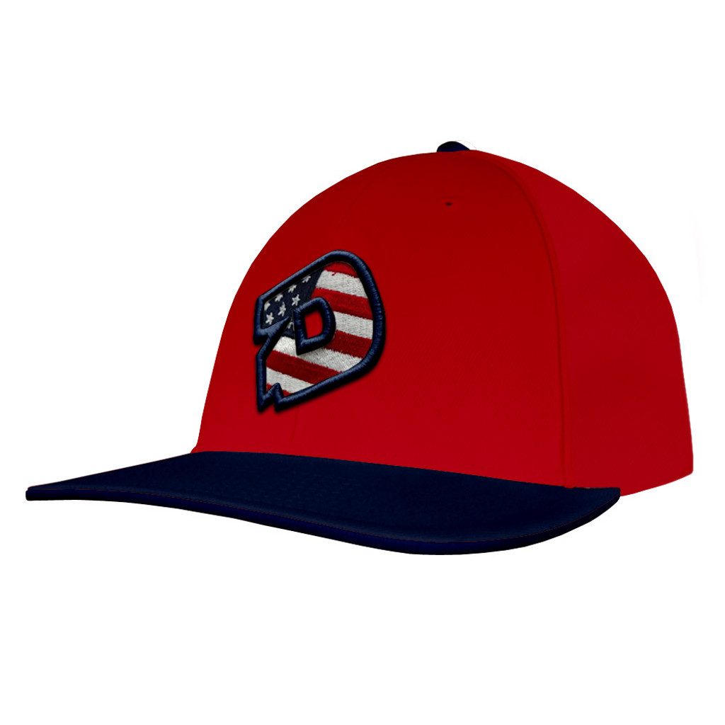 c1878df6 DeMarini D Logo USA Flat-Bill Baseball/Softball Flexfit Hat
