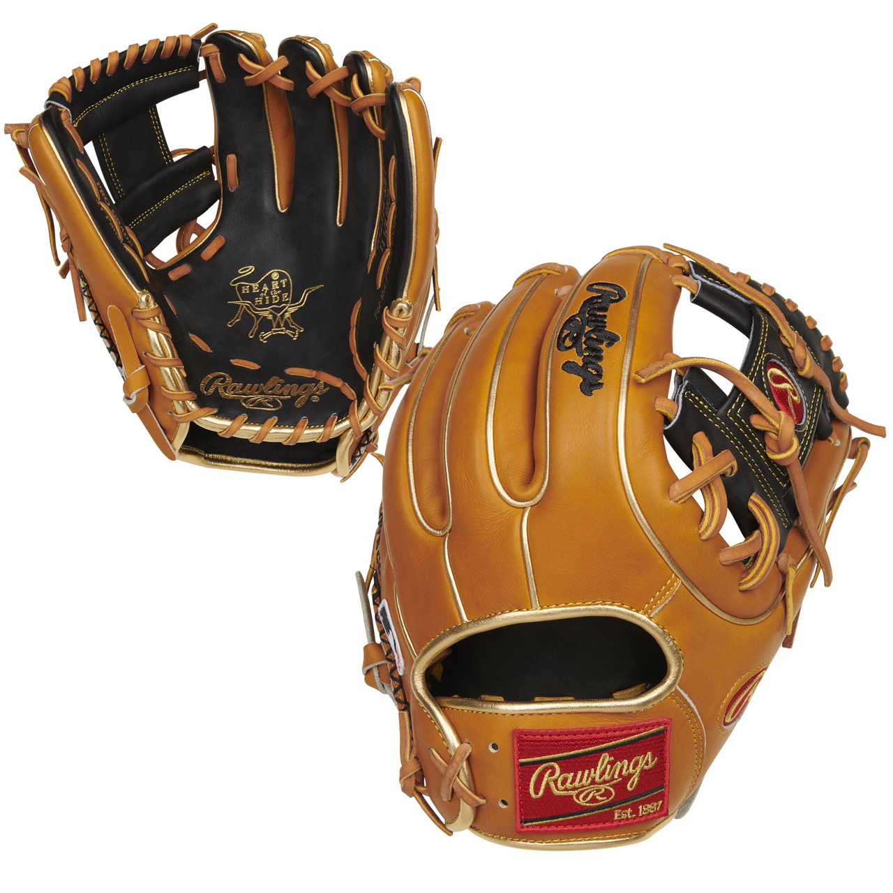 "Rawlings PRO314-2BT 11.5/"" Heart Of The Hide Gold Glove Club Baseball Glove"