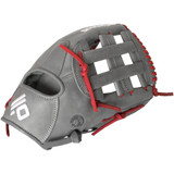 Nokona AmericanKip Gray H-Web 12.75 Inch A-1275H-GR RD Baseball Glove (Red Lacing)