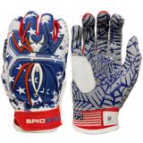 Spiderz Youth 2020 Hybrid Baseball/Softball Batting Gloves