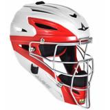 All-Star System Seven White Two-Tone Adult Baseball/Softball Catcher's Helmet