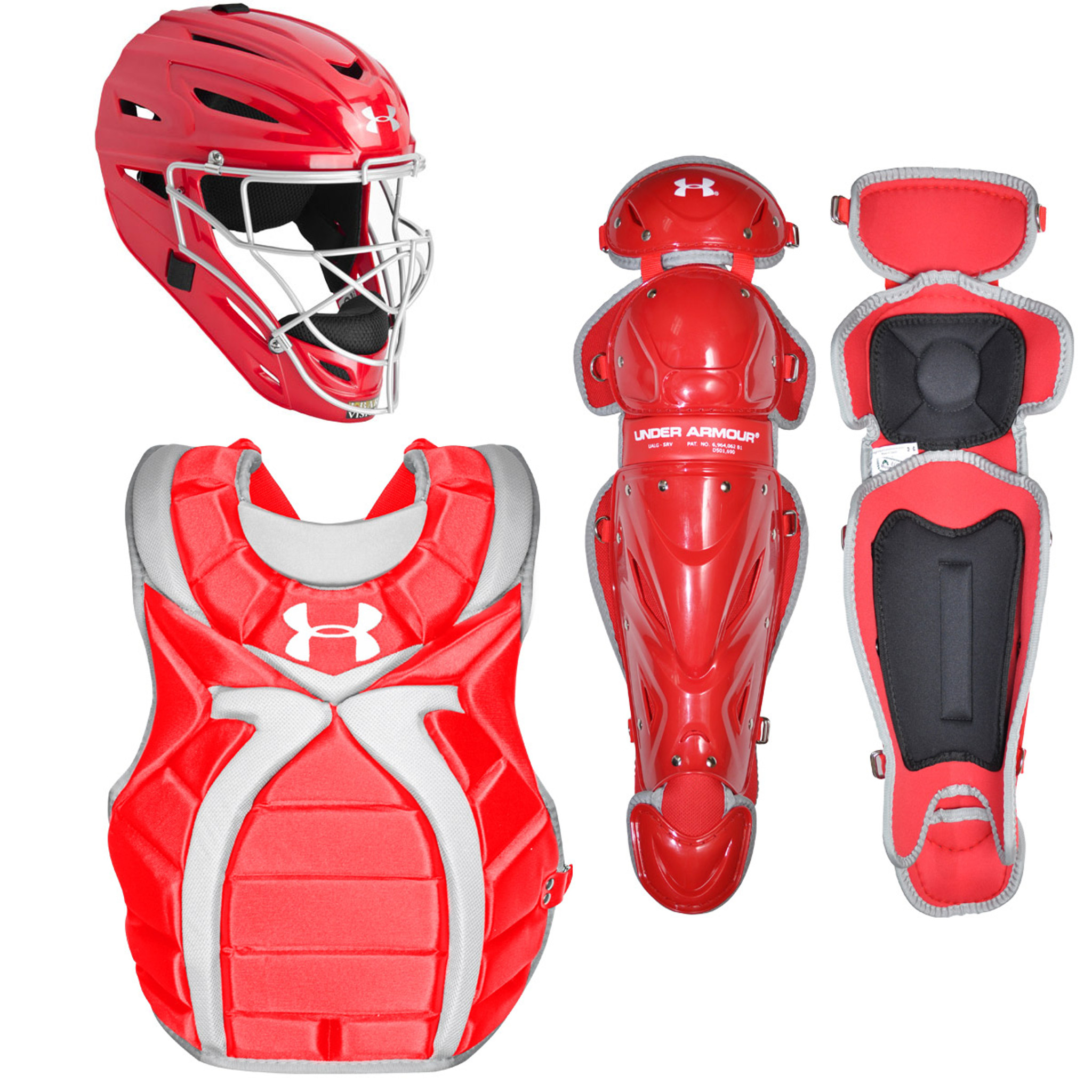 Under Armour Youth Girl/'s 9-12 Fastpitch Catcher/'s Gear Set Navy