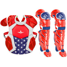 All-Star System7 Axis USA NOCSAE Youth Baseball Catcher's Gear Set