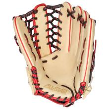All-Star Pro-Elite 12.75 Inch FGAS-1275PT Baseball Glove - Cream/Black/Scarlet