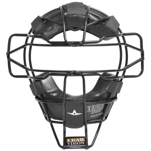 All-Star Pro Style Traditional Baseball/Softball Umpire Mask - Black & Tan Combo