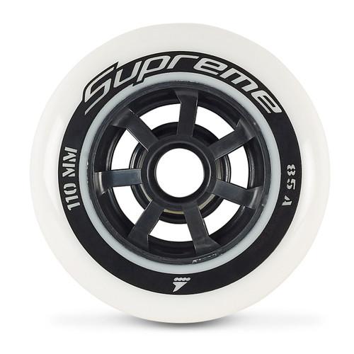 Rollerblade Supreme 110mm 85A Inline Skate Wheels - 6 Pack