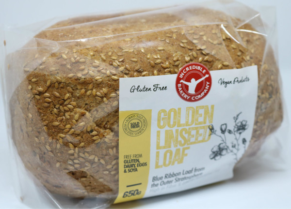 Incredible Golden Linseed Loaf (Bundle of 4 Loaves)
