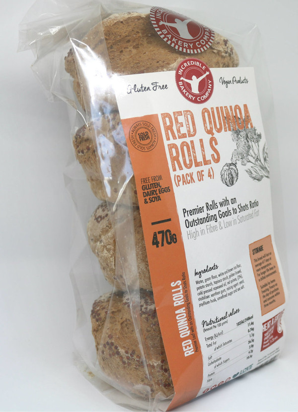 Incredible Red Quinoa Rolls (4 in a pack)