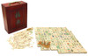 Vintage Mahjong Game Set in Wood Case 148 Bone & Bamboo Tiles Mah Jongg