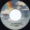Lee Greenwood: She's Lying / Home Away from Home - 45 rpm Vinyl Record