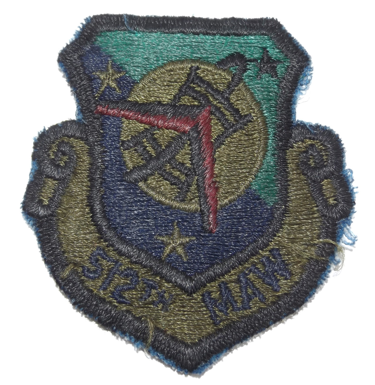 2264c09dcfd Vintage U.S. Air Force 512th MAW Maintenance Airlift Wing Embroidered Cloth  Patch