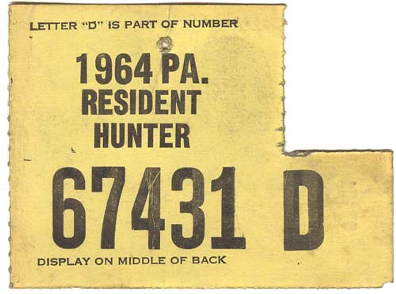 1964 PA Resident Hunter Hunting License