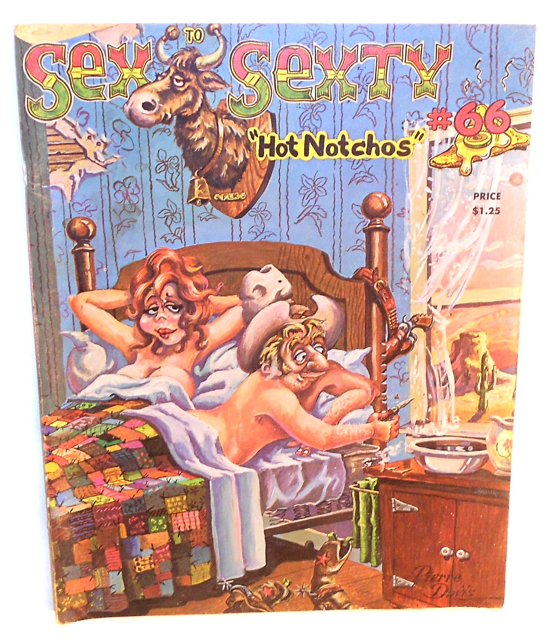 "Adult Cartoon Comics 1975 sex to sexty #66, ""hot notchos"" - men's adult cartoon comic magazine  back issue"
