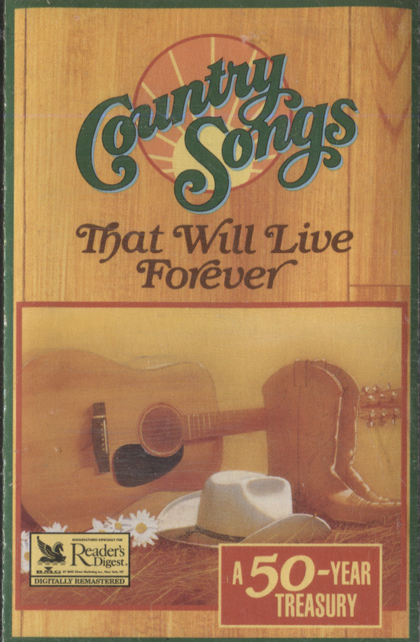 Various Artists: Country Songs That Will Live Forever, Tape 4 - Audio  Cassette Tape