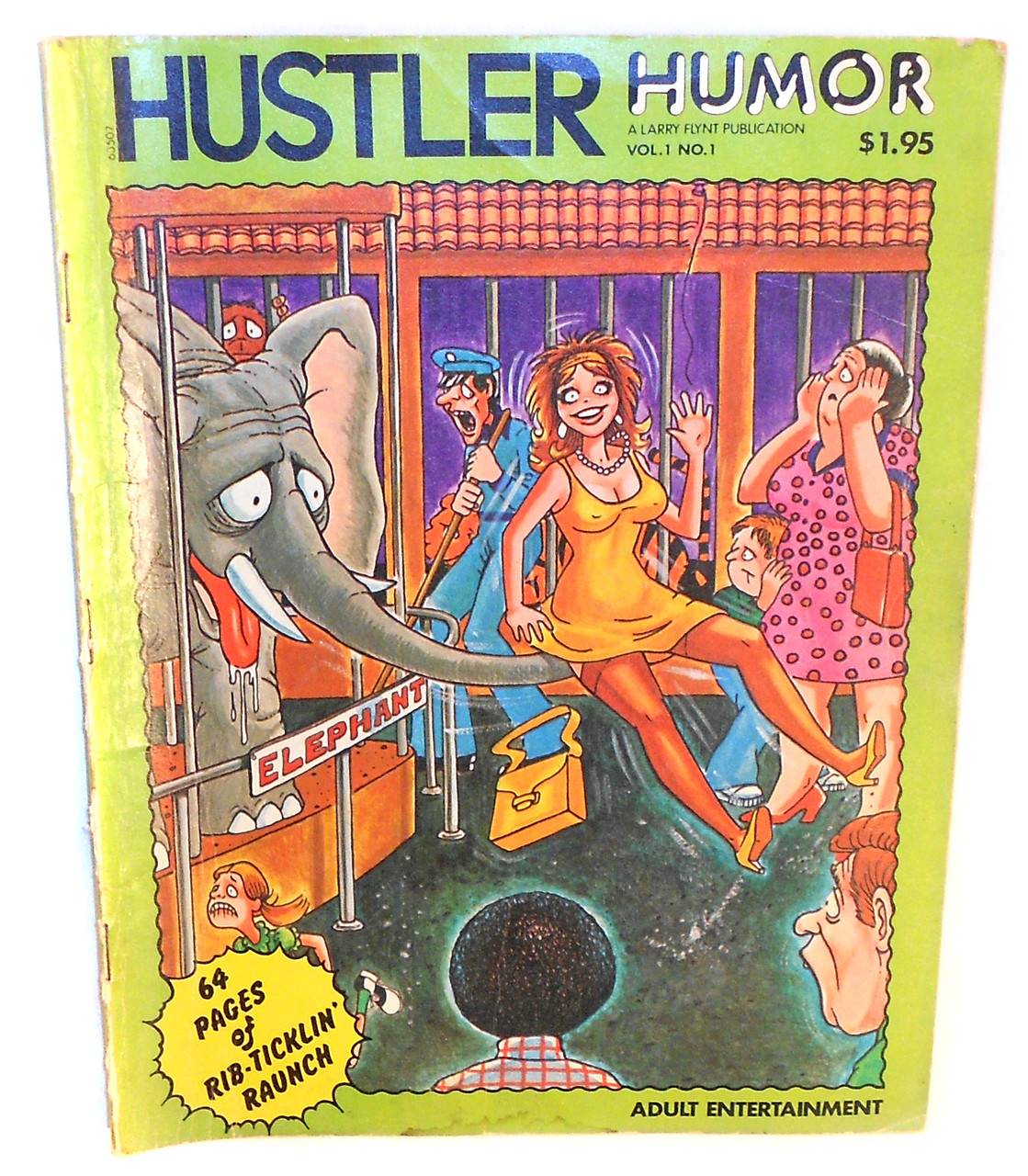 Adult Cartoon Comics 1978 hustler humor, vol. 1, no. 1 - men's adult cartoon comic magazine back  issue