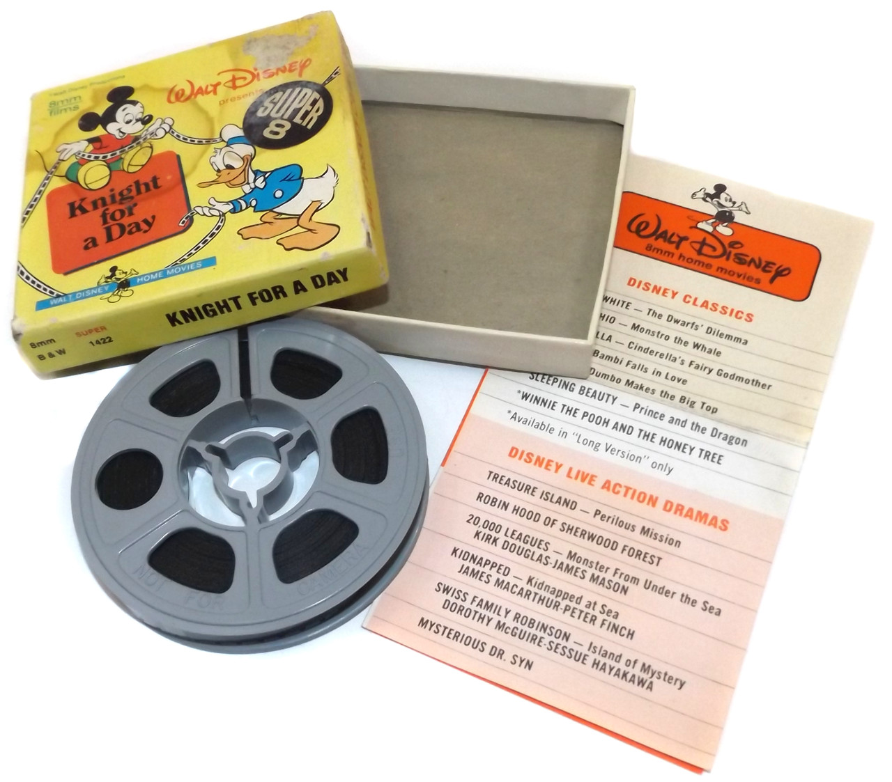 Vintage Walt Disney #1422 Knight for a Day Super 8mm Film Home Movie in Box