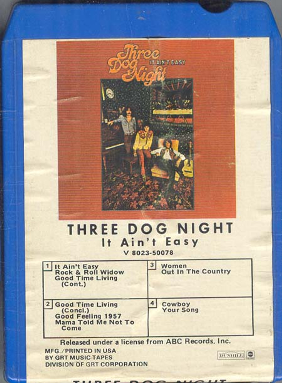 Three Dog Night It Ain T Easy 33555 8 Track Tape Cartridge For Sale