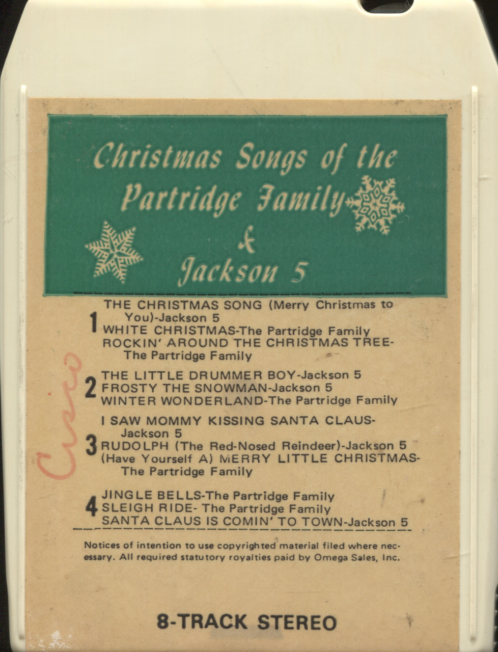 The Jackson 5 Have Yourself A Merry Little Christmas.Partridge Family Jackson 5 Christmas Songs Of The Partridge Family Jackson 5 8 Track Tape