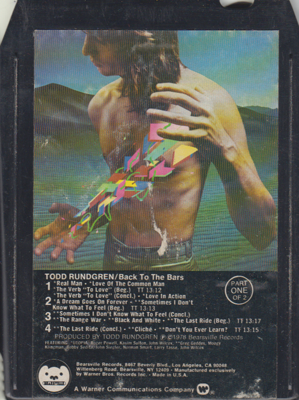 Todd Rundgren: Back to the Bars - Part One -33645 8 Track Tape