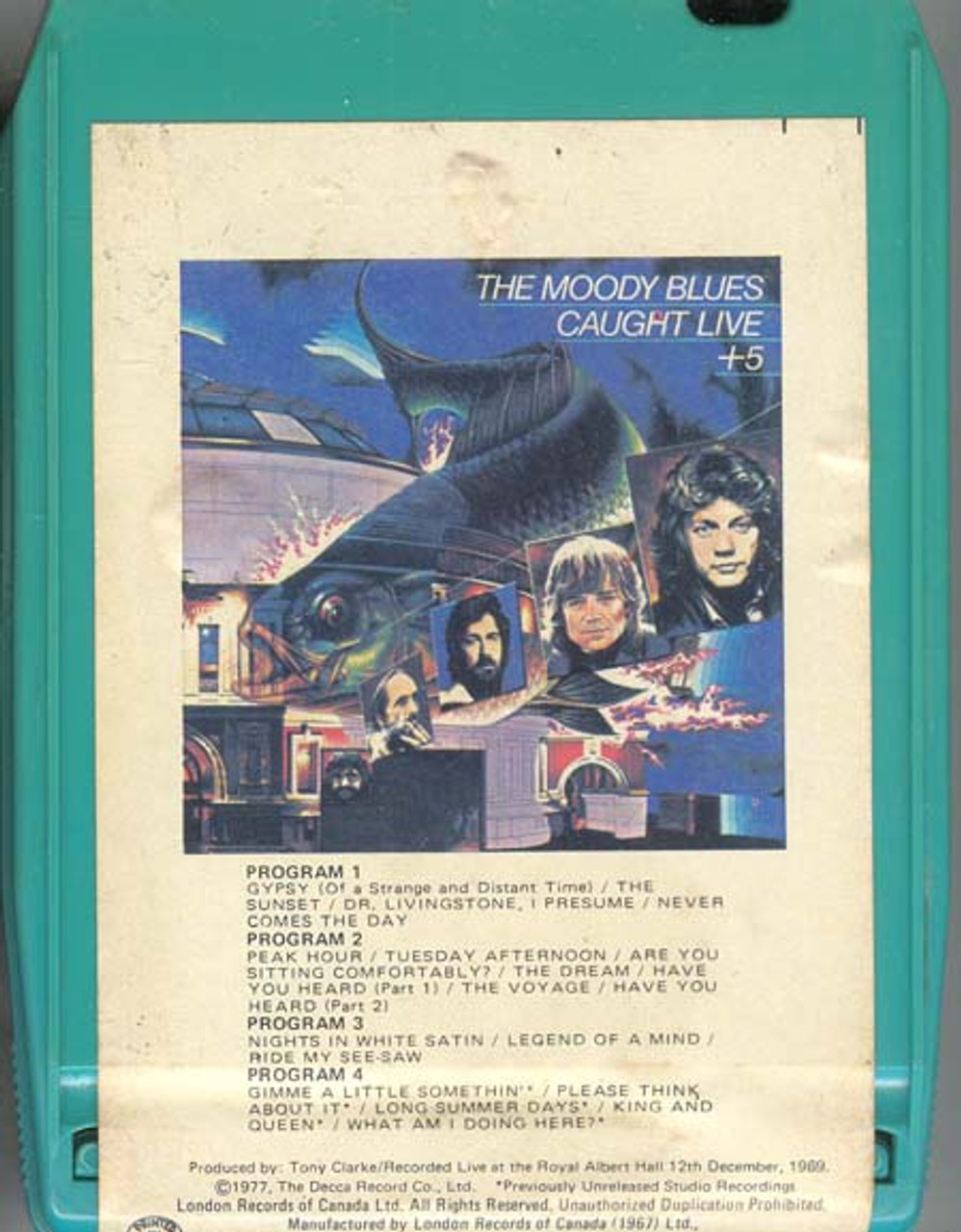 MOODY BLUES Caught Live +5 8 Track Tape