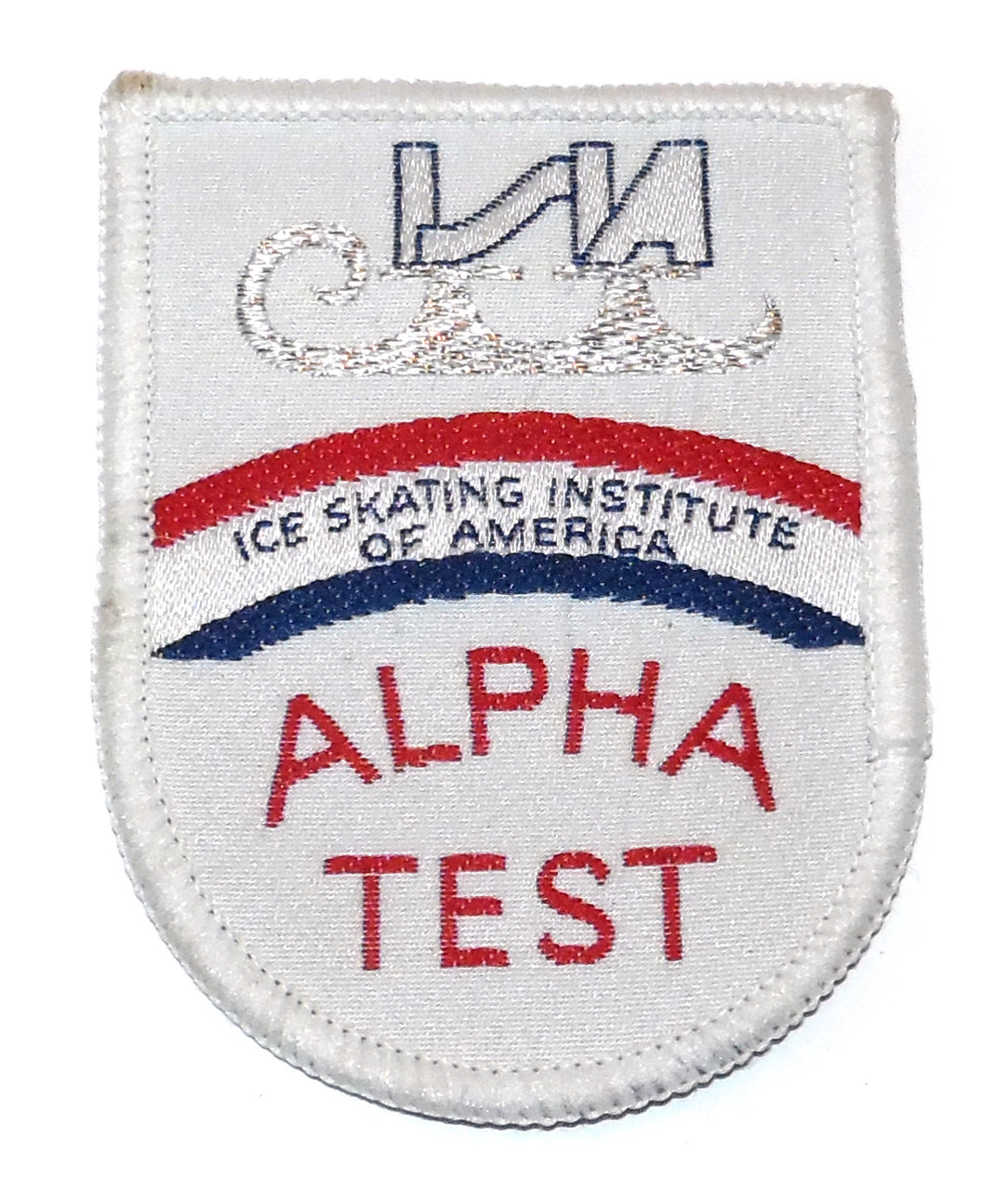 Vintage ISIA Ice Skating Institute of America Alpha Test Embroidered Cloth  Patch