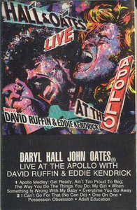 DARYL HALL & JOHN OATES: Live at the Apollo With David Ruffin & Eddie Kendrick -11412 Cassette Tape