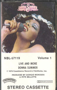 DONNA SUMMER: Live and More - #1 Cassette Tape