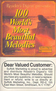100 World's Most Beautiful Melodies - #3 -5731 Cassette Tape