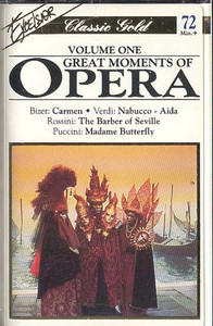 #One, Great Moments Of Opera Cassette Tape
