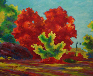 Mid-Century Unsigned (Possibly Frank Anderson Trapp) Abstract Impressionist Painting